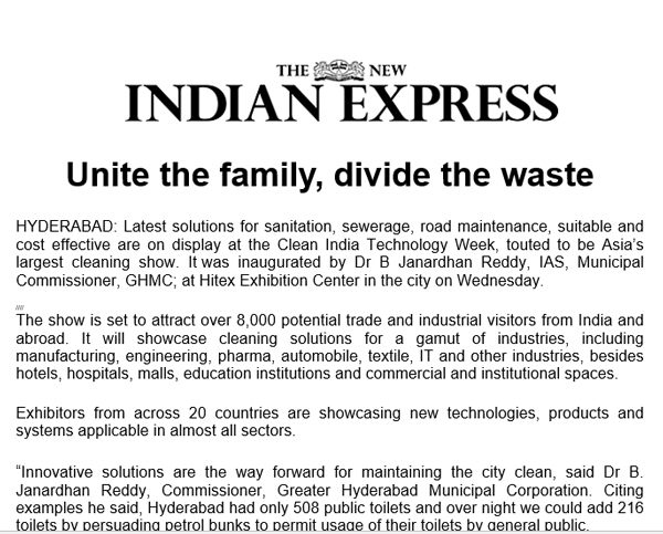 Media Coverage 2017 - Laundrex India Expo